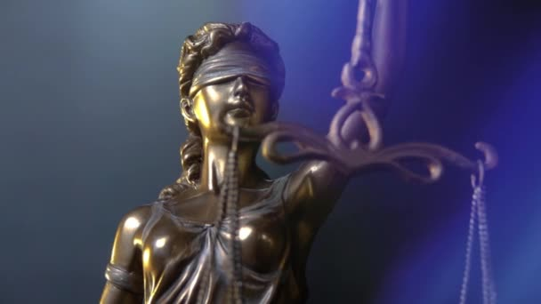Lady Justice Statue - lady justice or Iustita the Roman goddess of Justice - dolly zoom close up shot