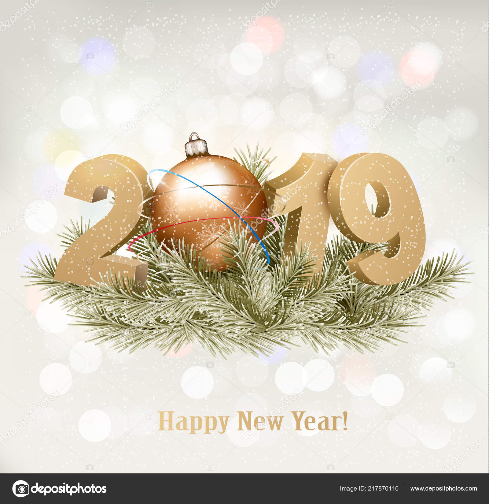 2019 Christmas Background Holiday Background 2019 Christmas Tree Vector — Stock Vector