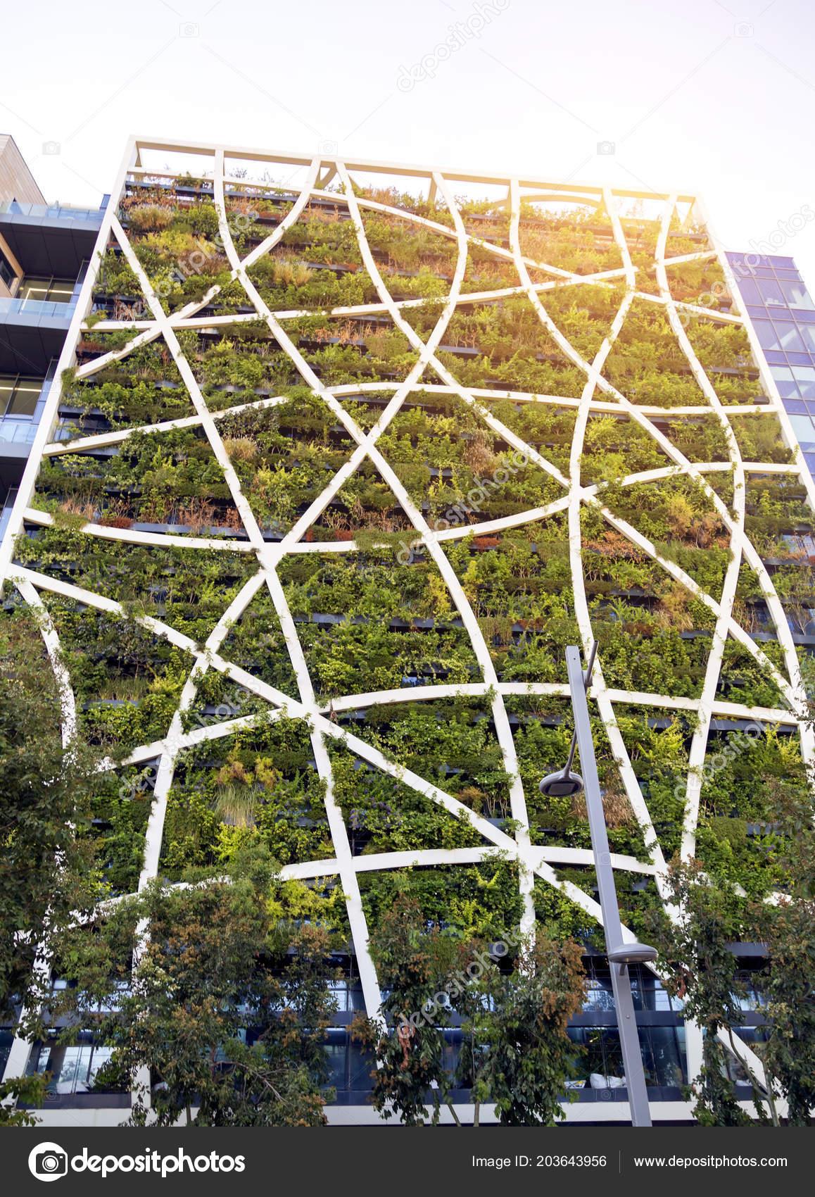 Building Covered Vertical Garden Facade Tel Aviv Stock Photo