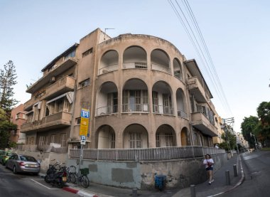 Tel Aviv, Israel - June 19, 2018: Generic architecture and cityscape from Tel Aviv. Modern and old buildings in the central streets of Tel Aviv-Yafo, Israel.