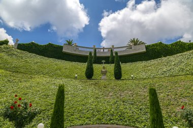 Bahai Gardens (Shrine of the Bab), a holy pilgrimage for the Bahai believers built on Mount Carmel in Haifa, Israel.