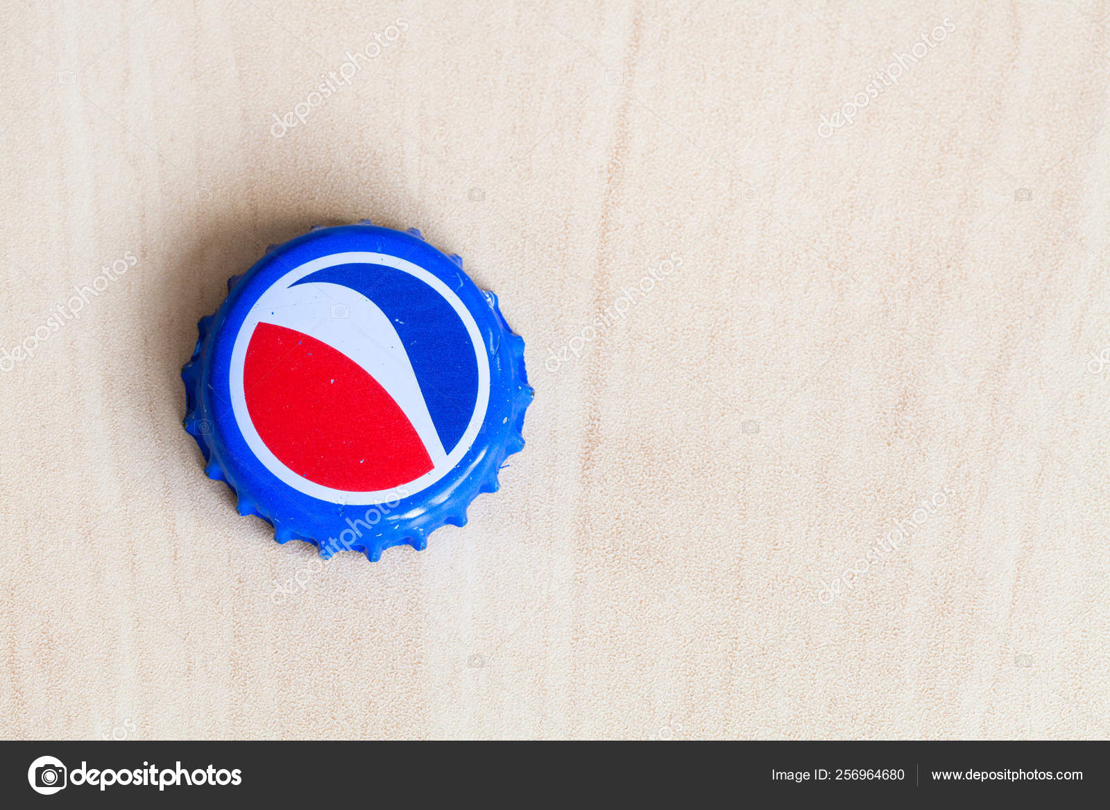 Used crown cork bottle cap from Pepsi drink – Stock