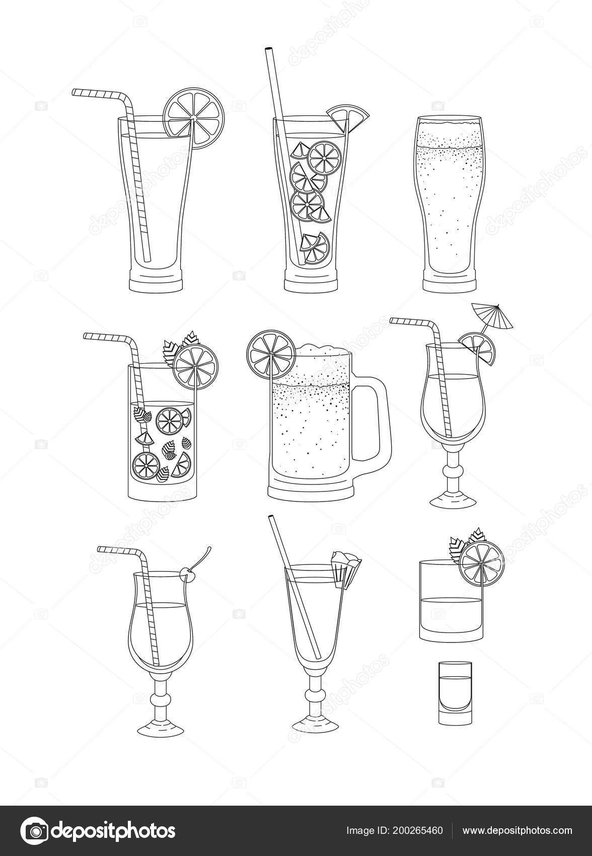 beste Getränke stellen icons — Stockvektor © grgroupstock #200265460