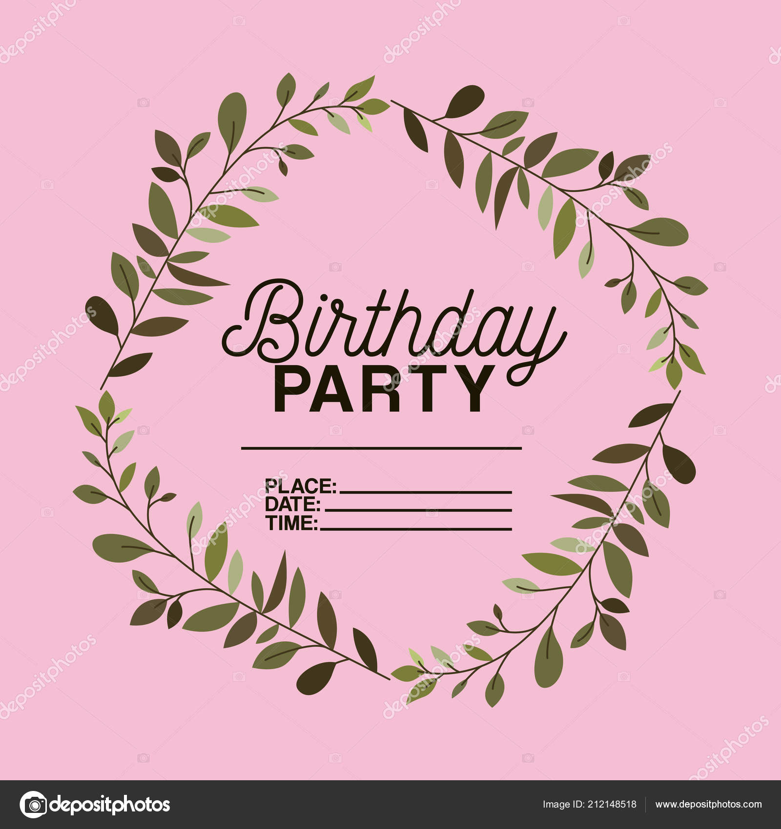 Birthday party invitation floral crown vector illustration design birthday party invitation floral crown vector illustration design vetor de stock stopboris Images