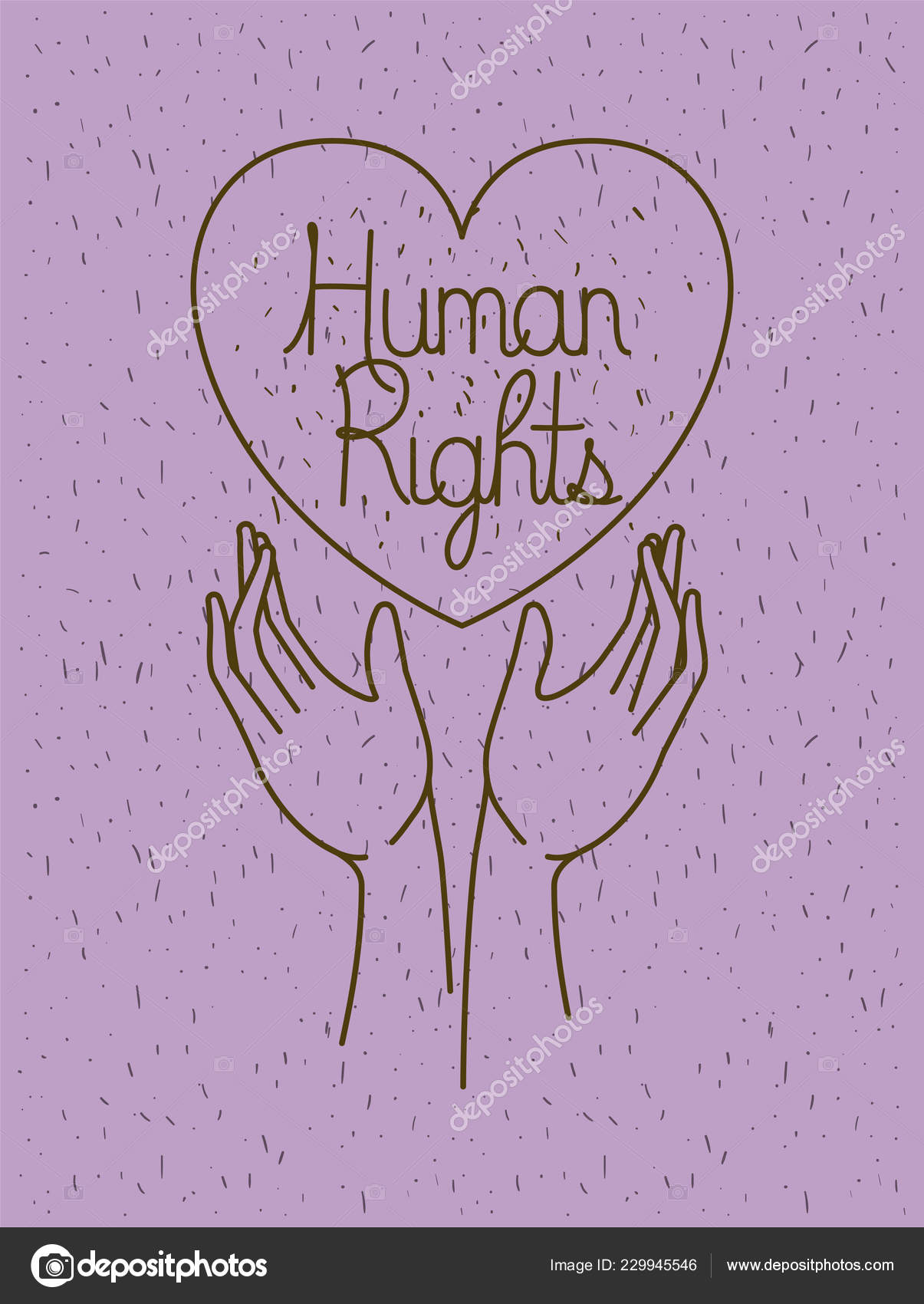 Hand With Heart Human Rights Drawns Stock Vector C Grgroupstock