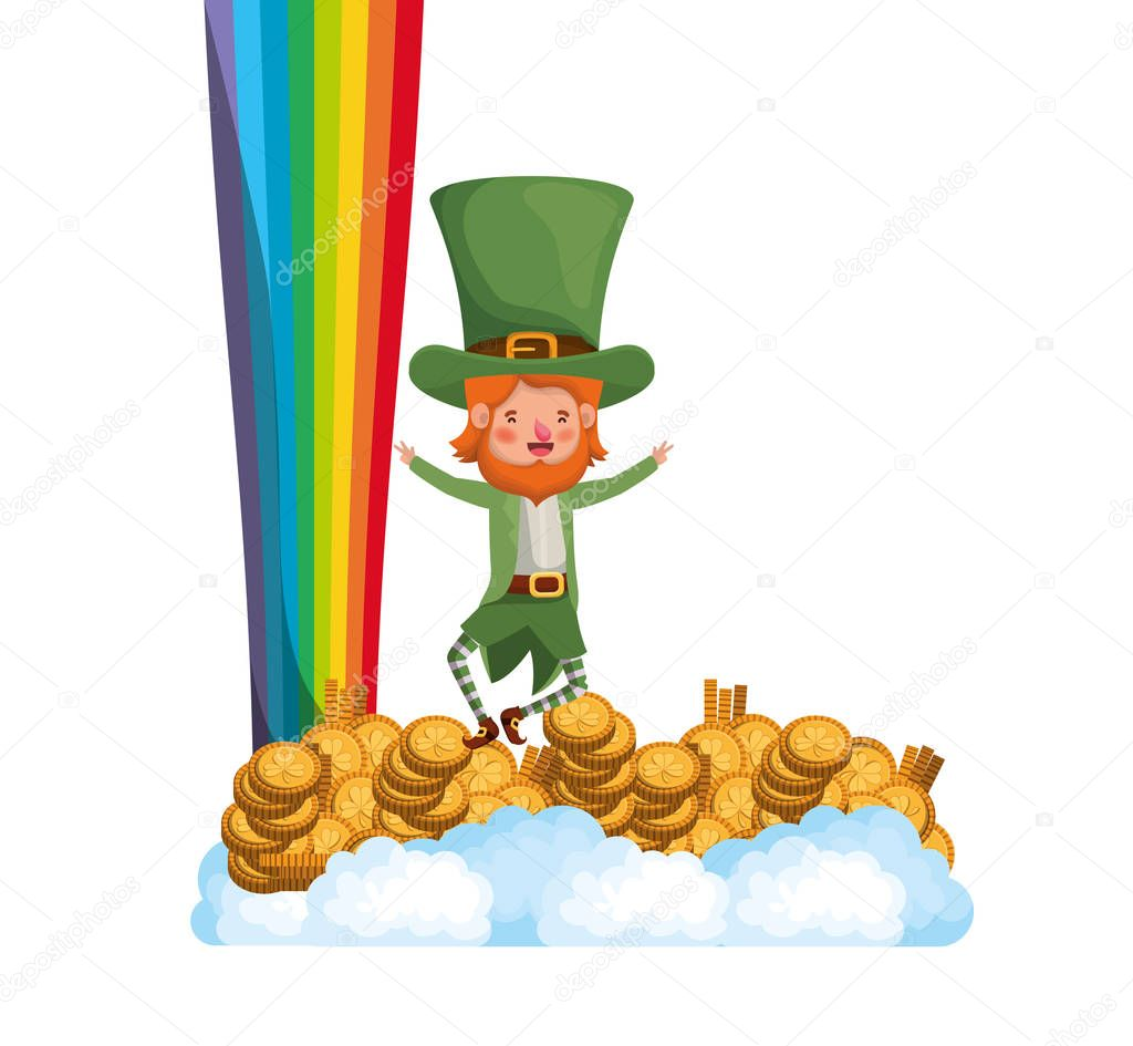 leprechaun with rainbow avatar character