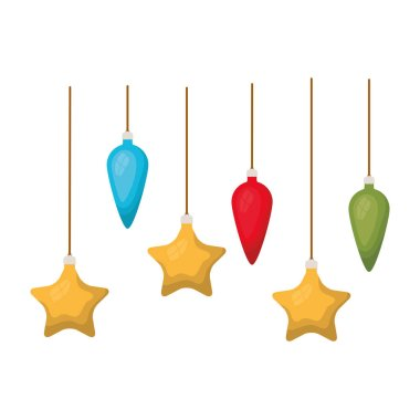 christmas balls decoration hanging isolated icon