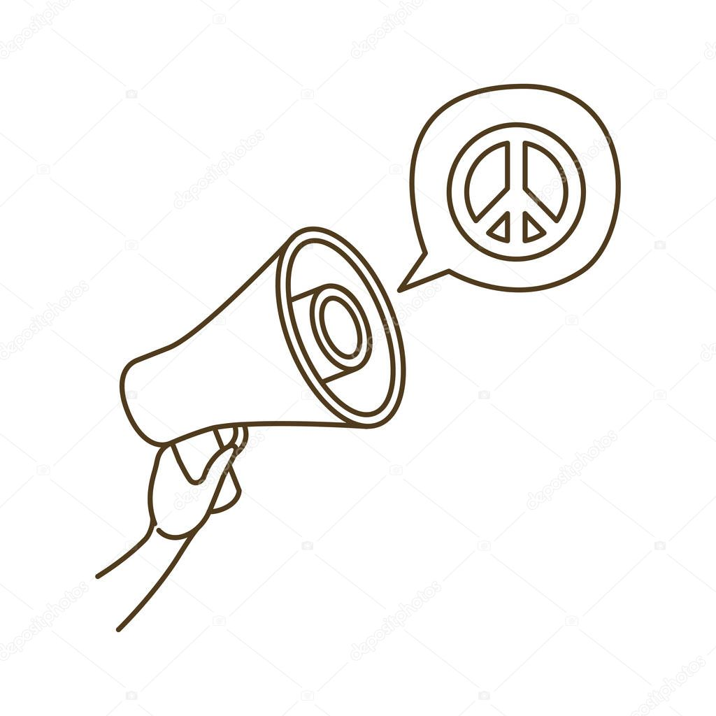 megaphone in hand with speech bubble