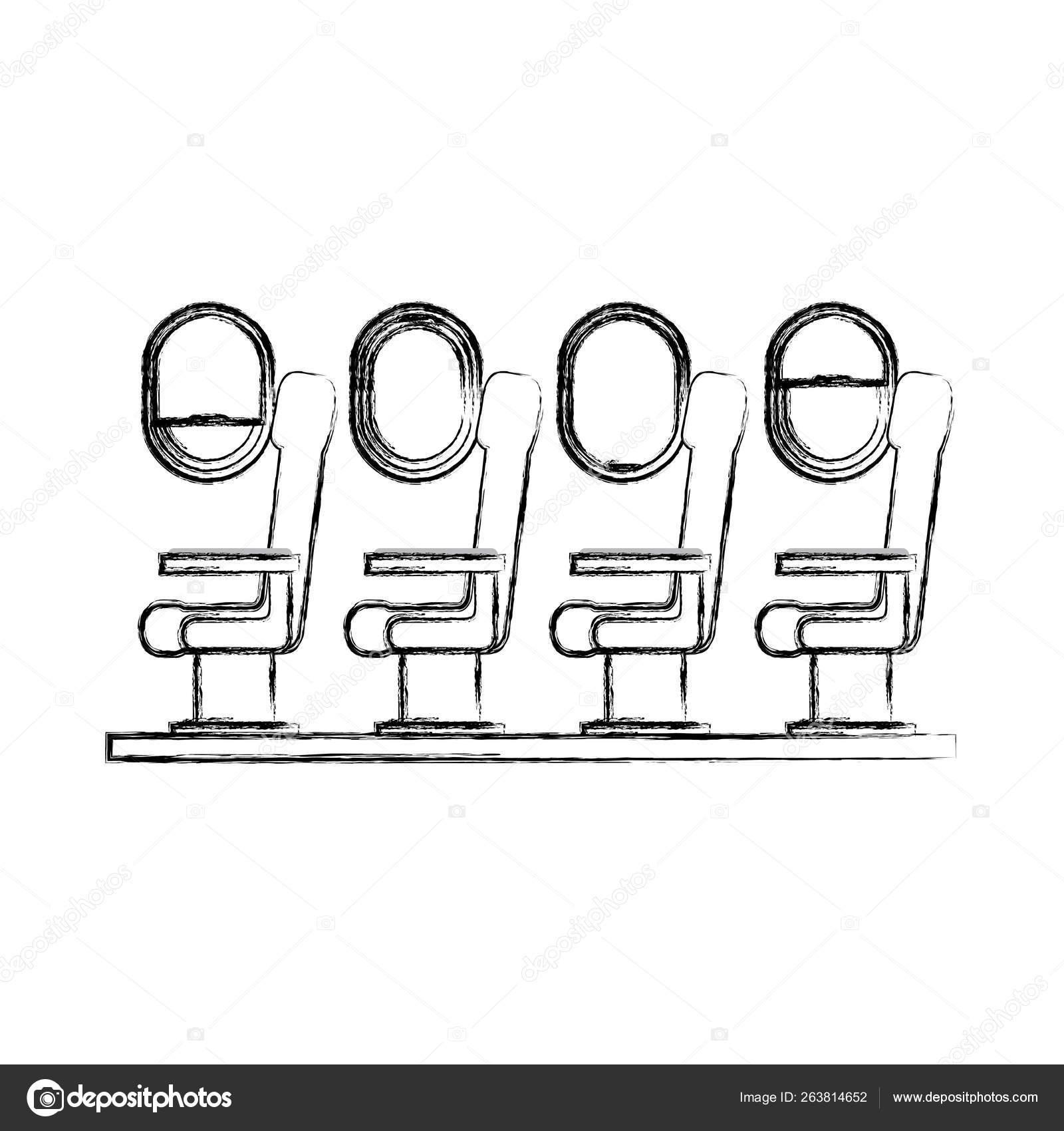 Airplane Windows Interior Stock Vectors Royalty Free Airplane