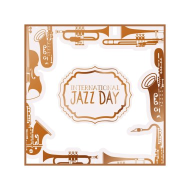 jazz day international isolated icon