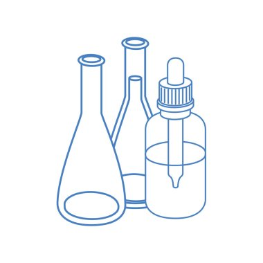 laboratory instruments in white background