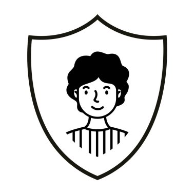 young man in shield avatar character