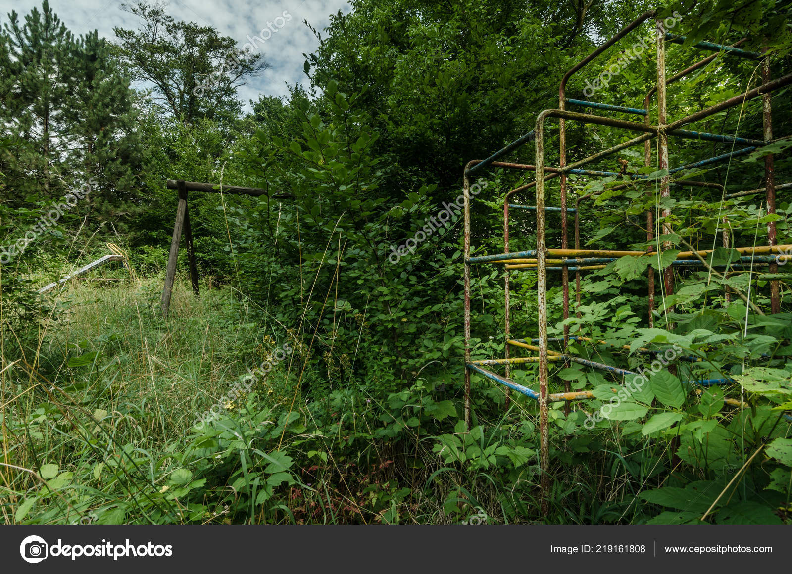 Overgrown Old Abandoned Children Playground Stock Photo C Thomaseder 219161808
