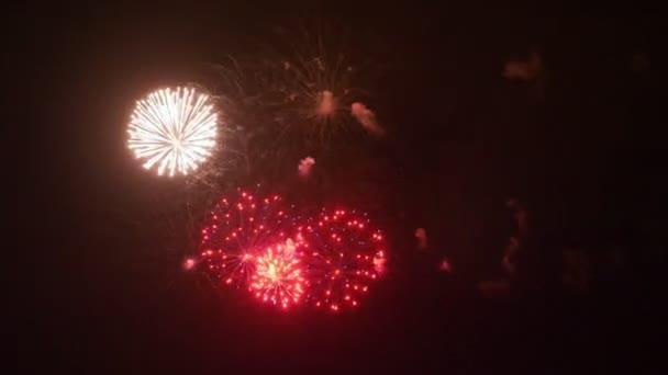 Amazing fireworks in 4K. Slow motion 60 fps