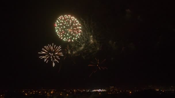 Amazing fireworks at night