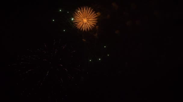 Amazing fireworks in 4K. Slow motion 60 fps