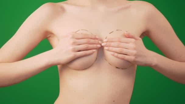 Plastische Chirurgie für weibliche Brustkorrektur.