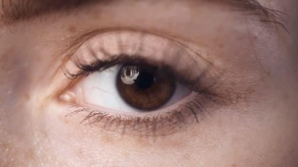 Blízka, Mladá krásná ženská oko.