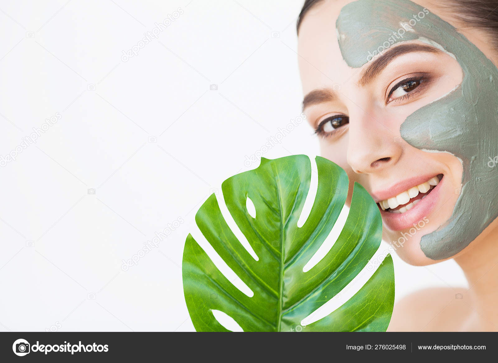 Beauty Face Skin Care Woman With Cosmetic Spa Facial Mask Stock Photo C Maksymiv 276025498