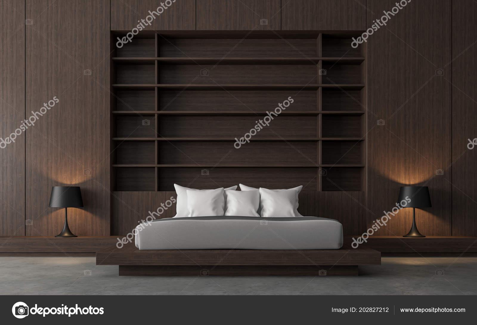 Contemporaine Moderne Loft Chambre Rendu Sont Polies ...