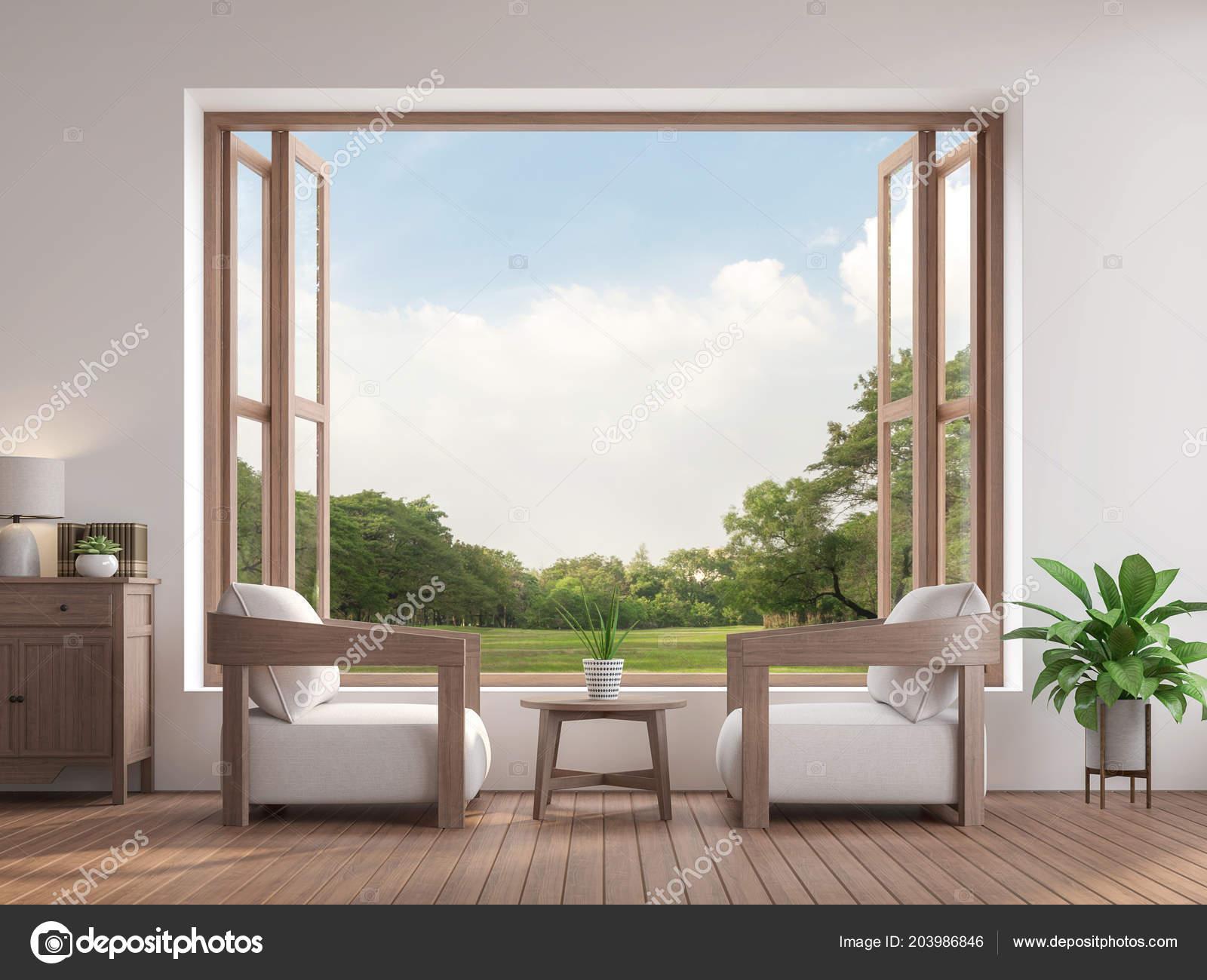 Salotto Moderno Legno : Salotto moderno contemporaneo render sono pavimento legno arredata
