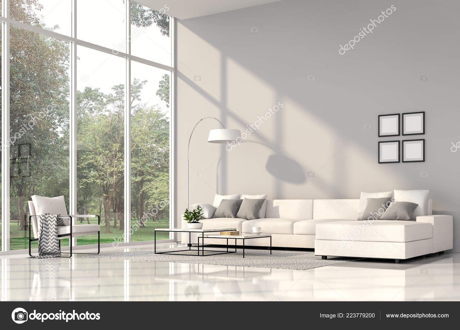 Rendering Interni Soggiorno Moderno Camere Hanno Pavimenti