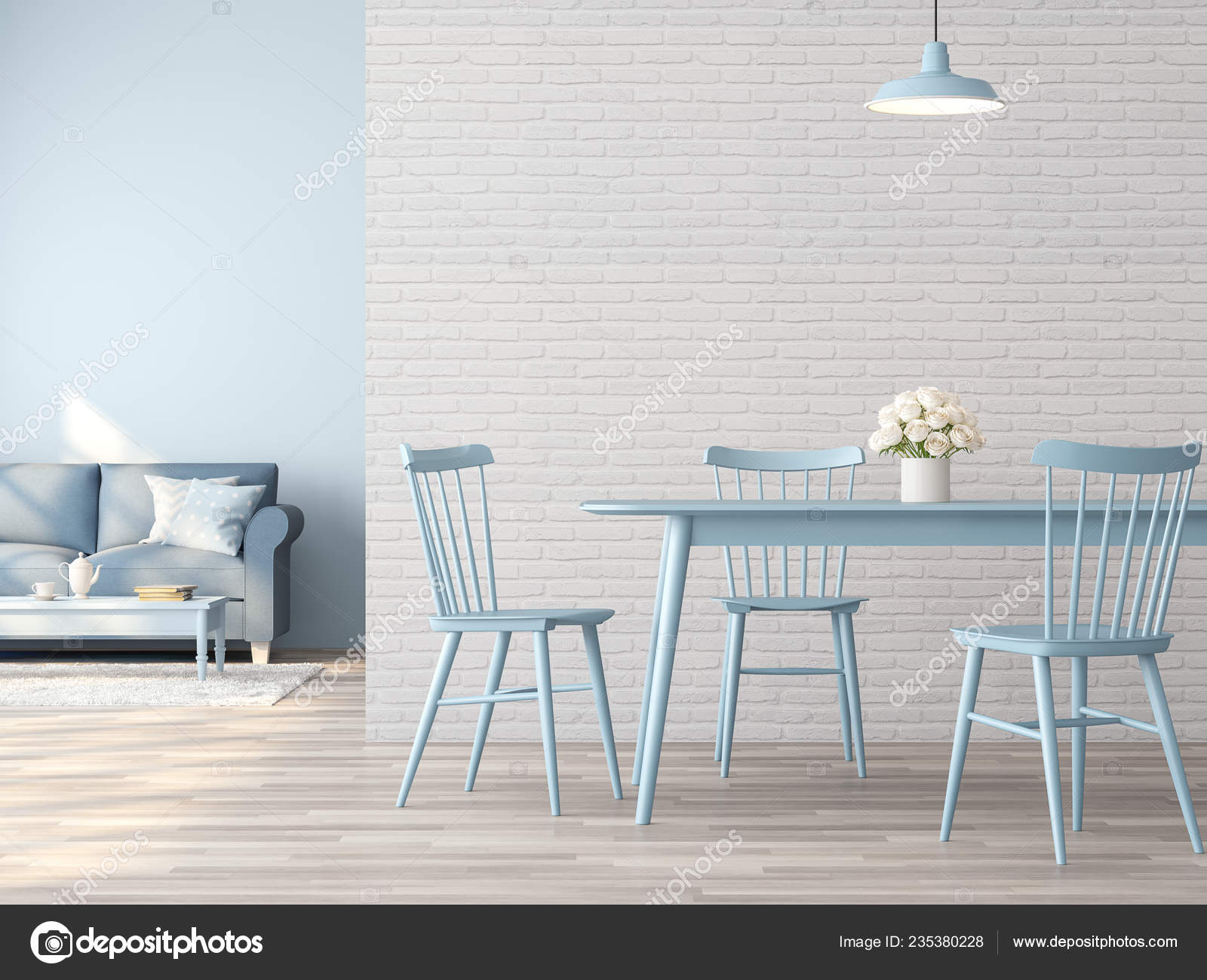 Comedor Living Vintage Habitación Interior Con Concepto ...