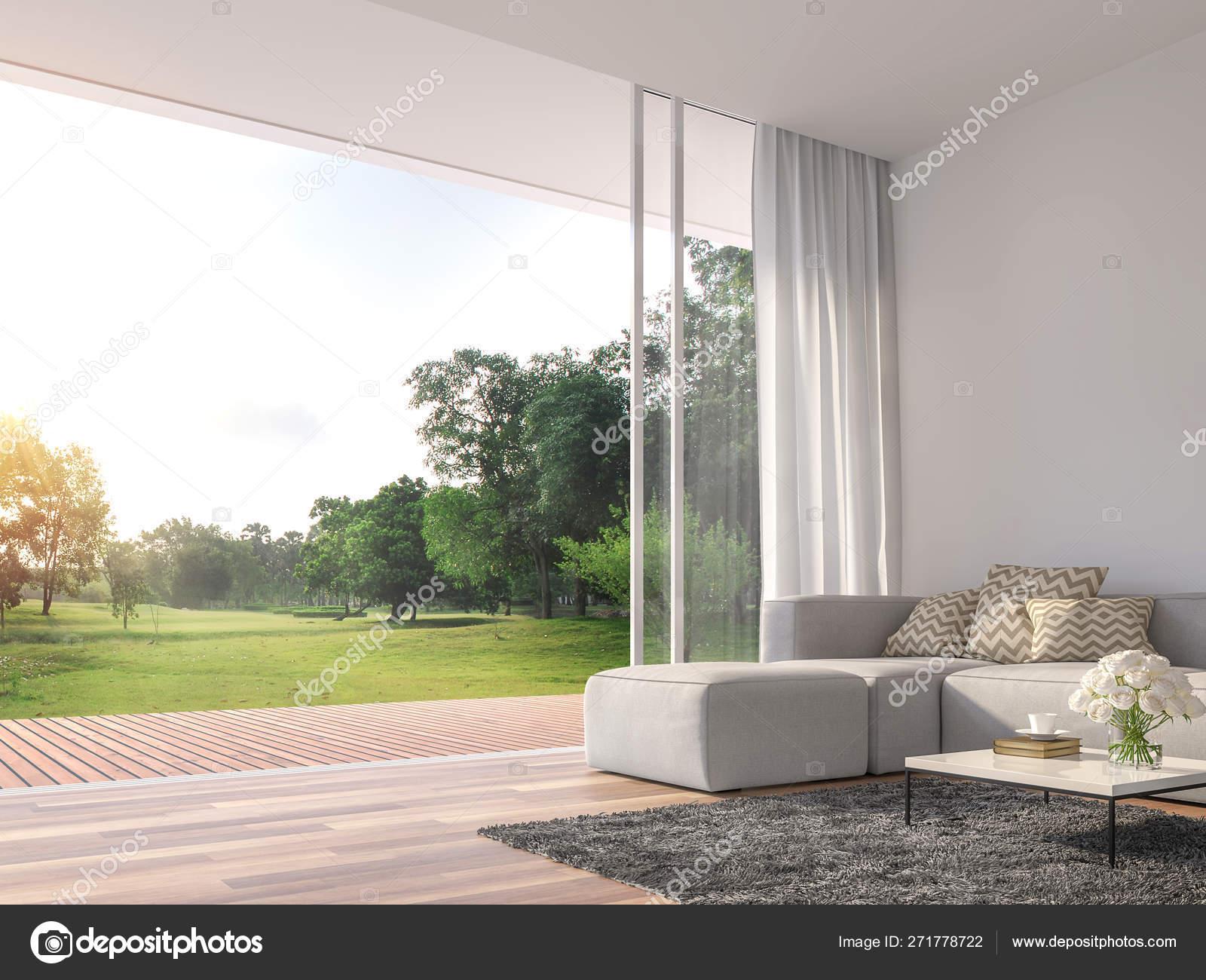 Moderna Sala Estar Render Las Habitaciones Tienen Suelos
