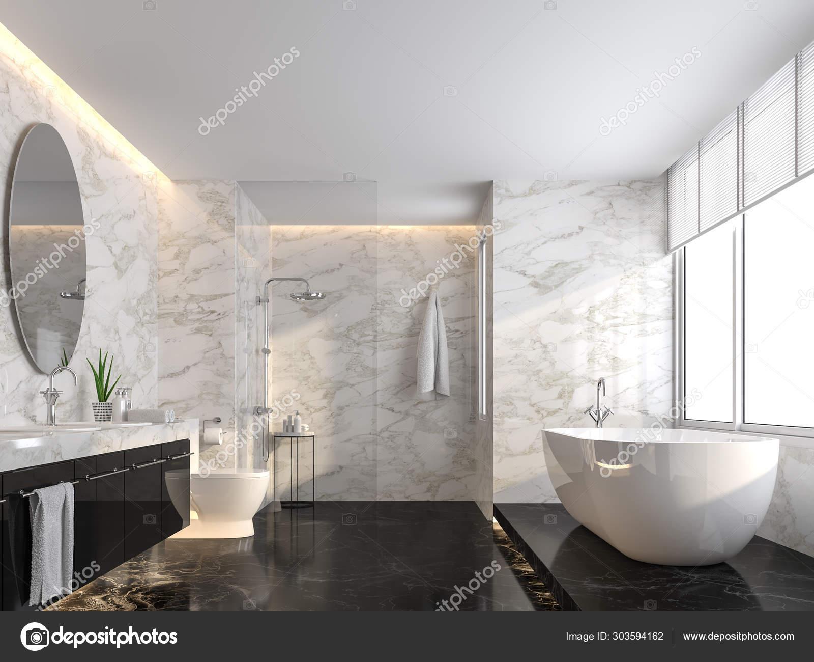 black marble floor bathroom
