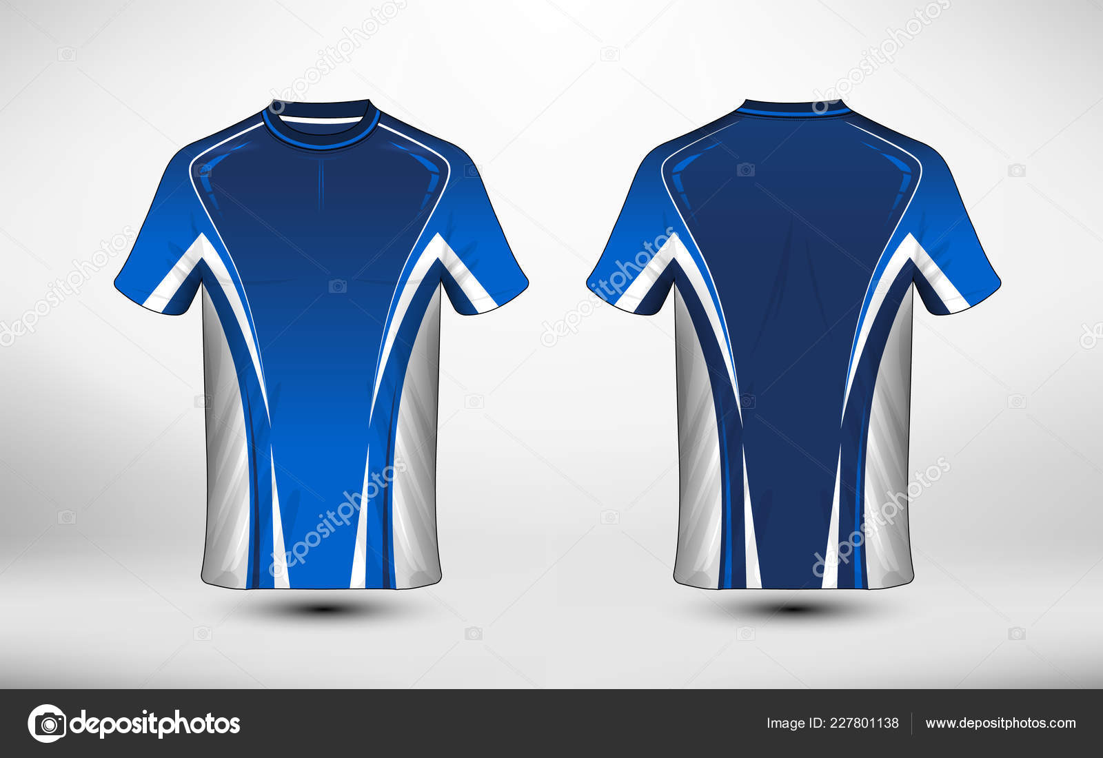 2c5ba31b5 Blue and white layout e-sport t-shirt design template. Illustration vector  — Vector by mungkornlasonthi@gmail.com  ...