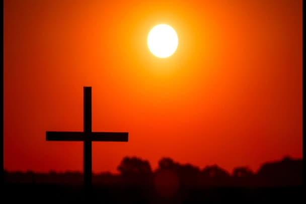 4. rudá obloha s slunce a Christian Cross, Časosběr