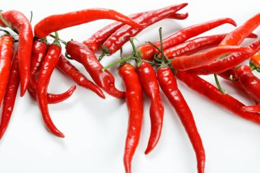 Hot red chili or chilli pepper ristra