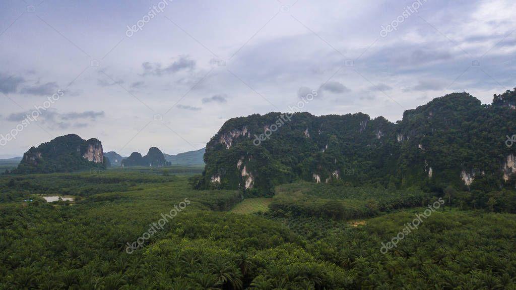 landscape of Mountain in Krabi Thailand .