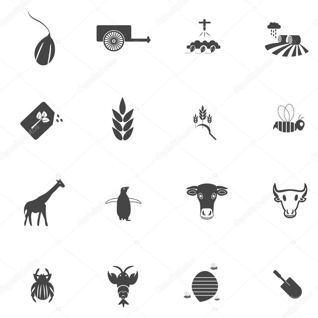 16 Set of Agriculture Icon.