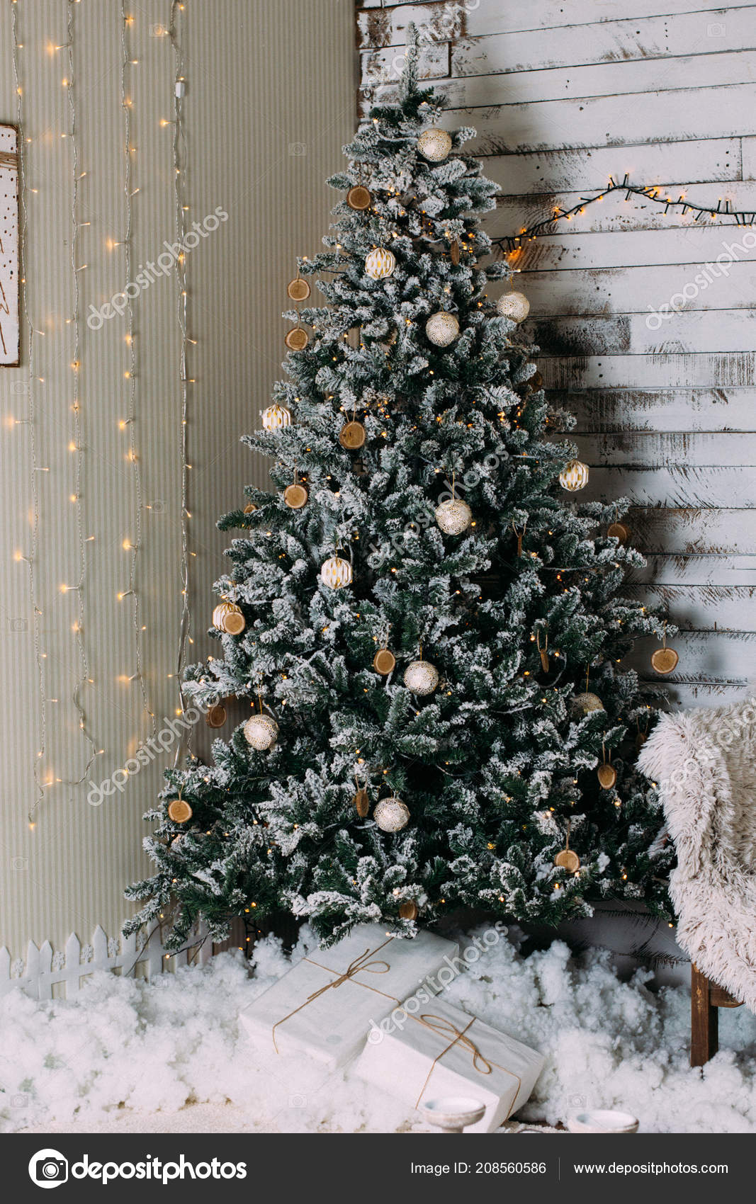 christmas tree with gifts happy new year background photo by ternavskaiaogmailcom