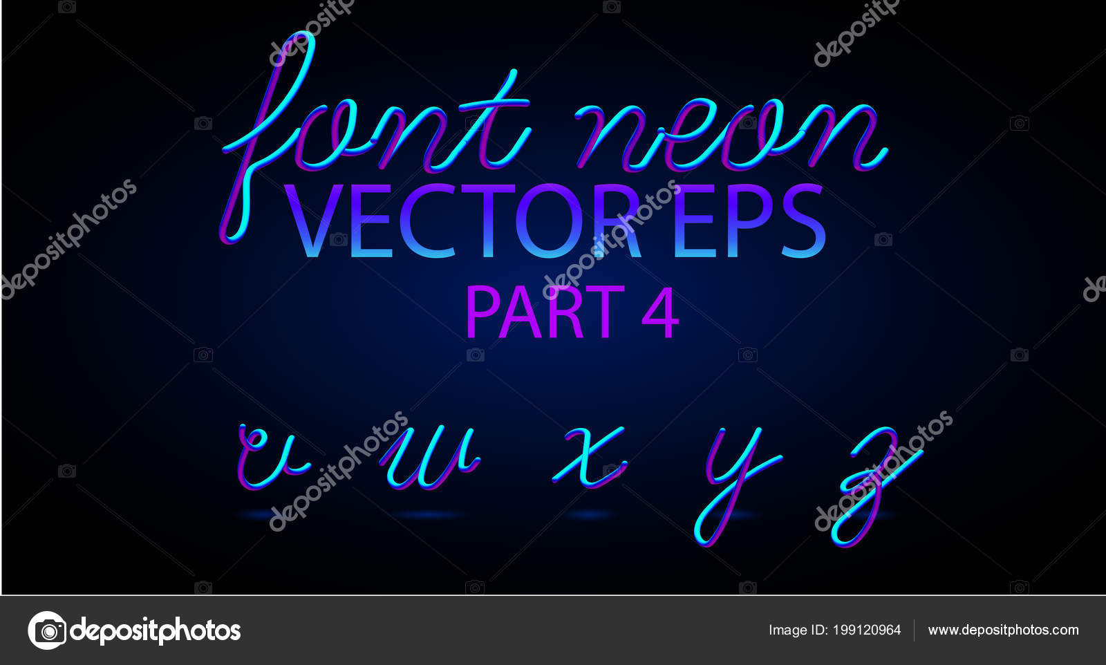 neon 3d typeset with rounded shapes font set of painted letters matte liquid colors