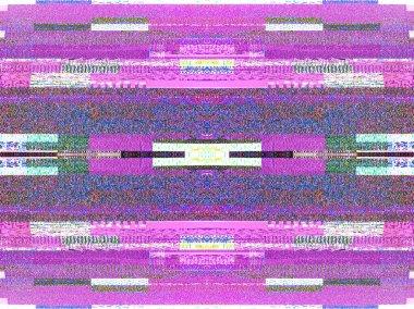Digital television noise on a large plasma OLED 4K smart tv scre