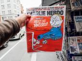 Charlie Hebdo na ruského prezidenta Vladimira Putina karikaturu
