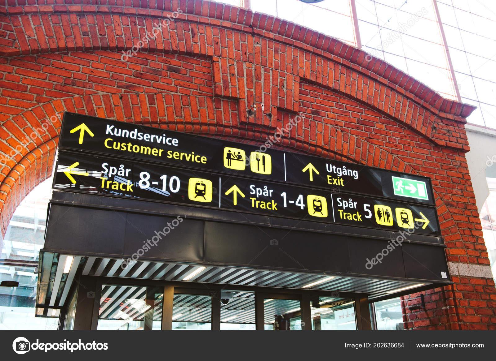 Train station sign above the door in Copenhagen central