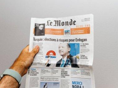Le Monde about Recep Tayyip Erdogan election