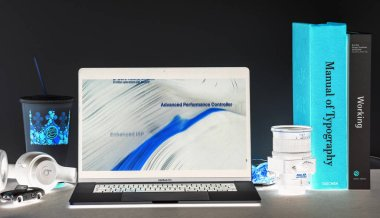 London - September 13, 2018: Apple Computers internet website on 15 inch 2018 MacBook Retina in room environment showcasing iPhone Xr capabilities in advertorial
