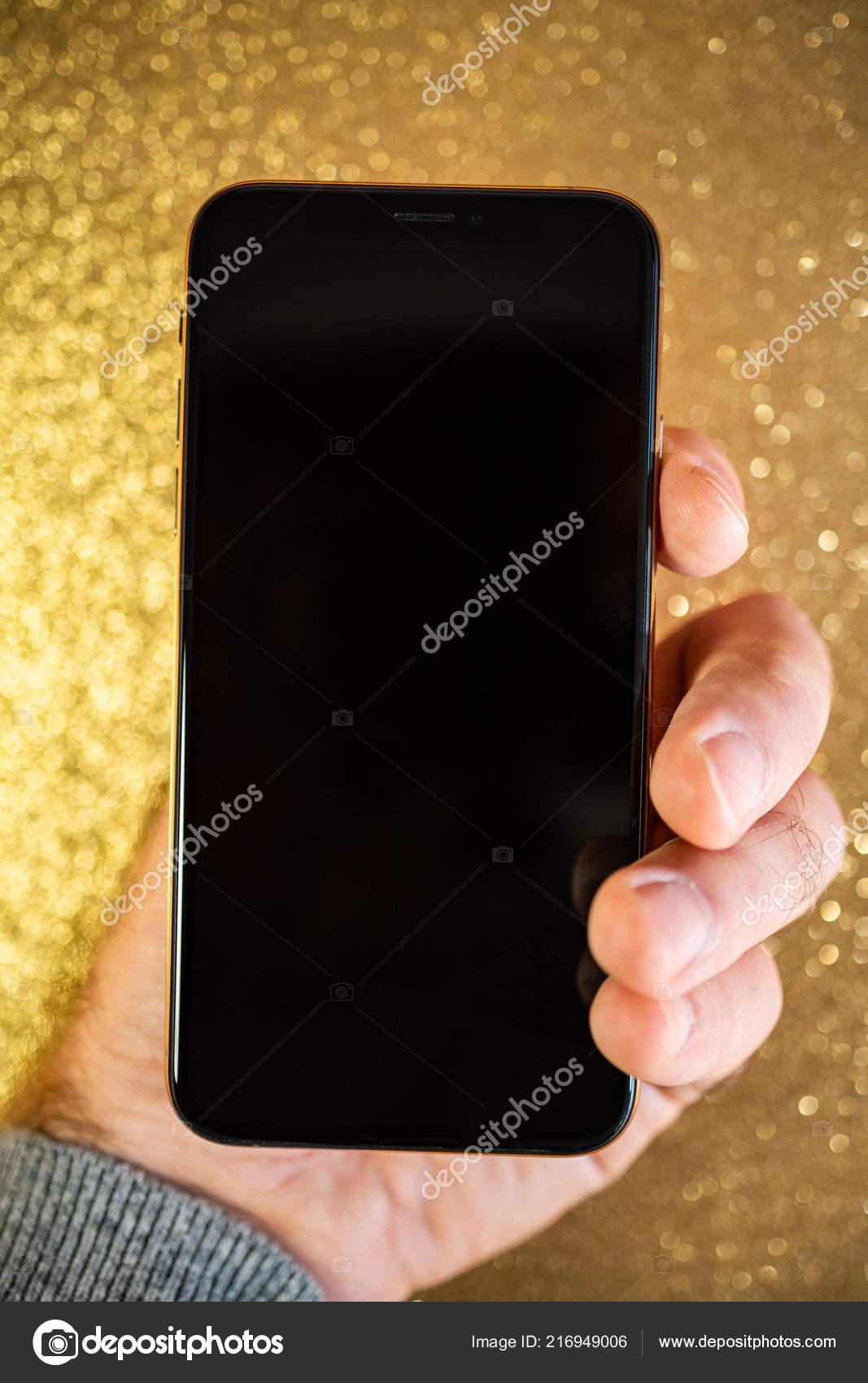 Apple Iphone Xs Max Xr Oro Glitter Scintilla Sfondo Foto