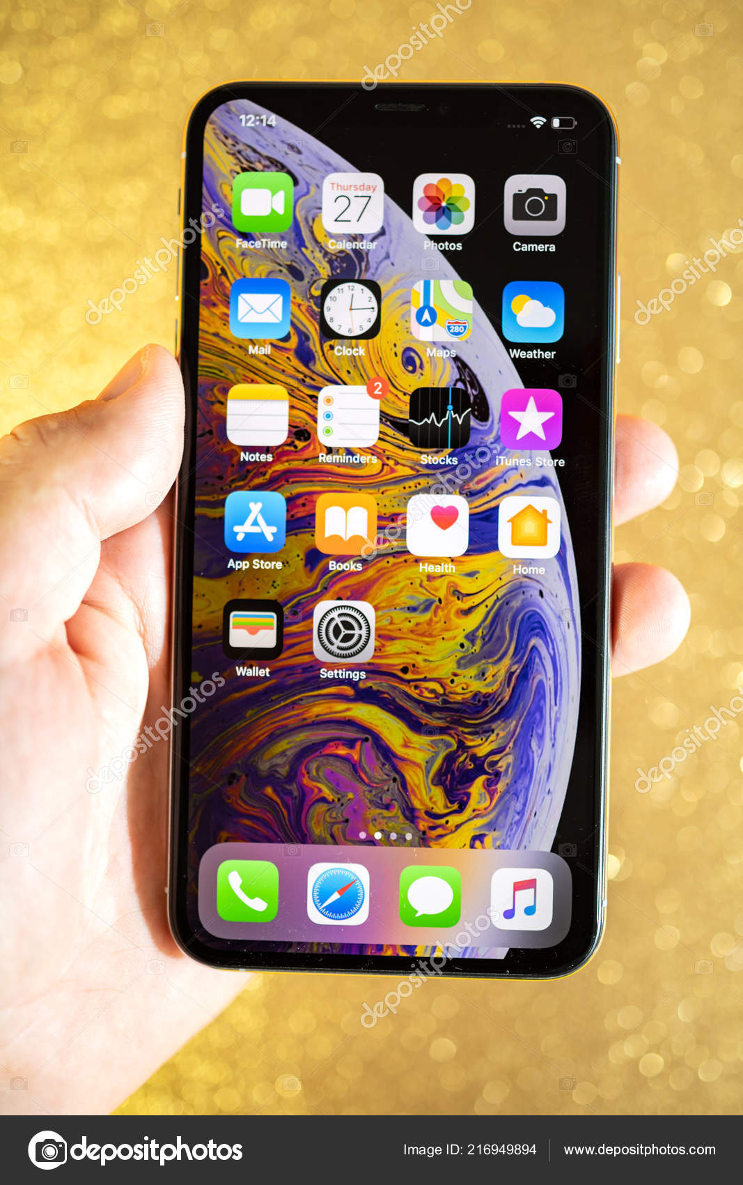 Apple Iphone Xs Max Xr Oro Glitter Scintilla Sfondo Foto