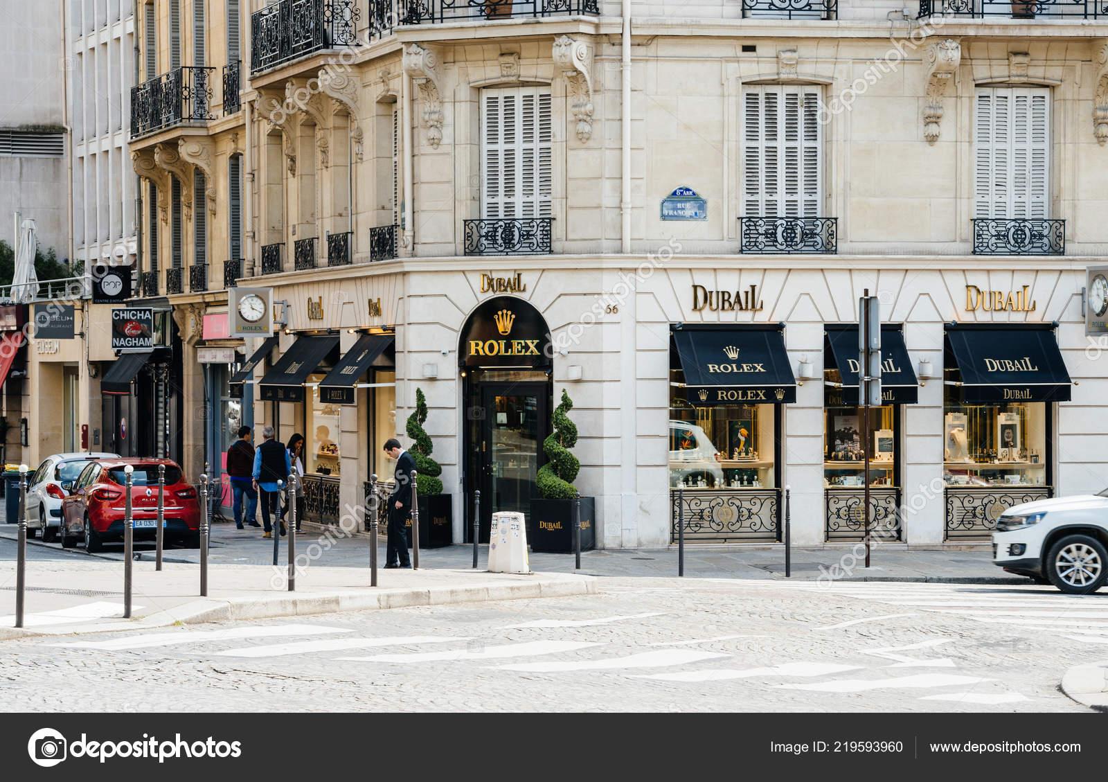 c3feb97a454252 Negozio di lusso orologi Rolex a Parigi– Fotografia Editoriale Stock