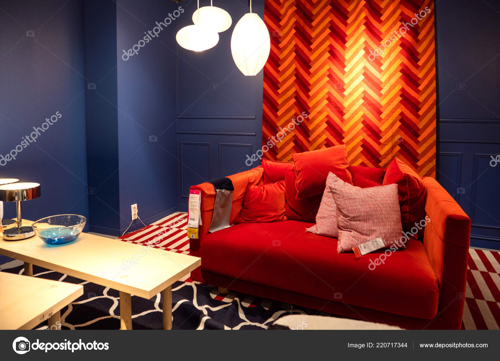 Cool Red Sofa Example Furniture Store In Ikea Stock Editorial Ibusinesslaw Wood Chair Design Ideas Ibusinesslaworg