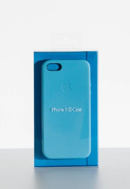 Apple iphone blue leather case protection