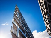Modern residential and office building - low angle view Hamburg Germany