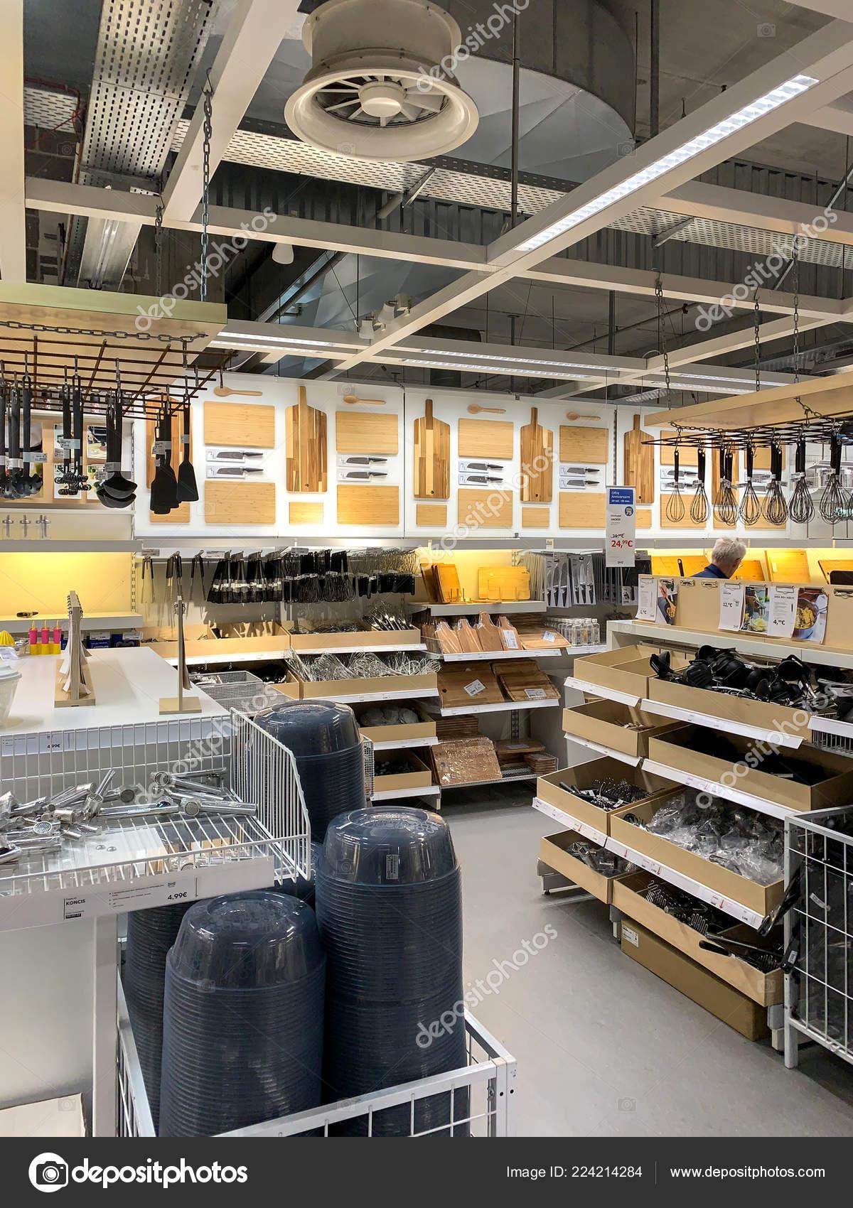 Kitchen utensils for sale inside IKEA store – Stock ...