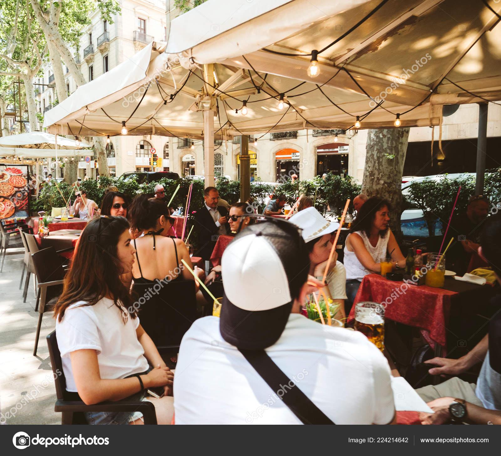 Rambla Cafe Lunch Terrace With People Stock Editorial Photo C Ifeelstock 224214642