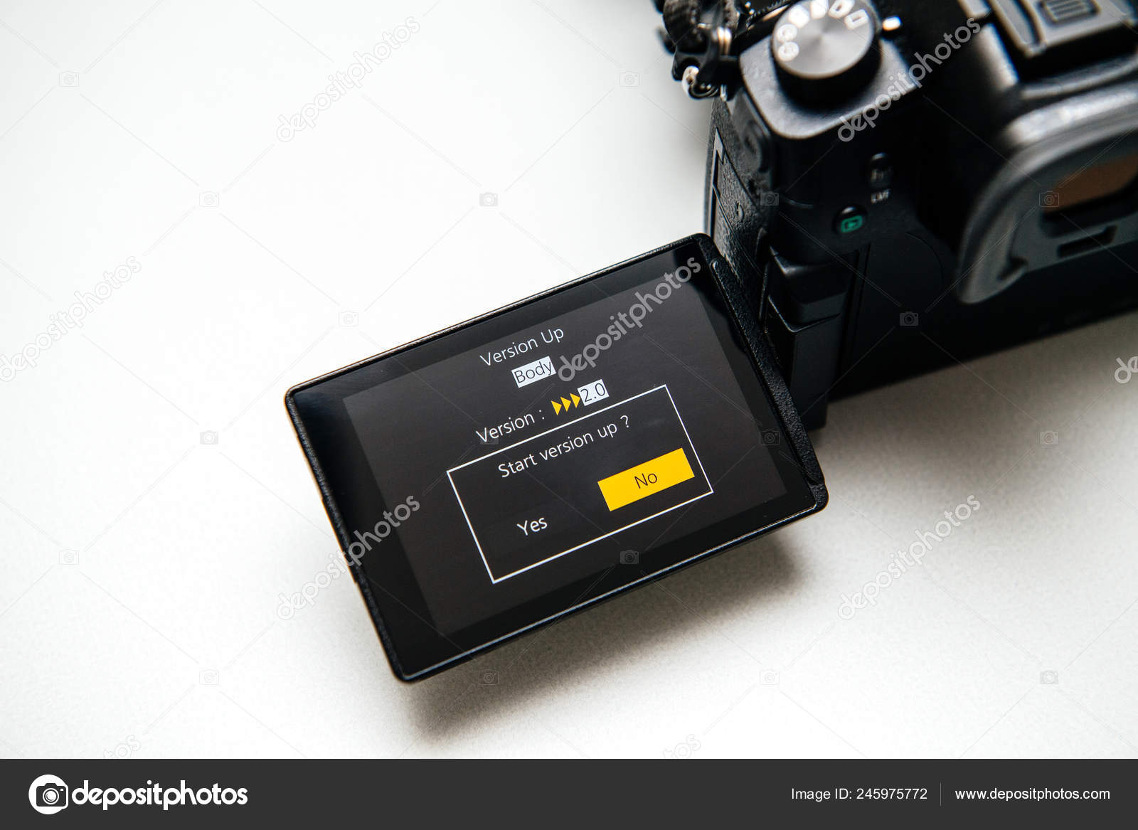 Panasonic Lumix GH5 upgrade firmware – Stock Editorial Photo